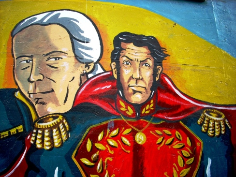 Pintura mural na Rua Franisco Solano López