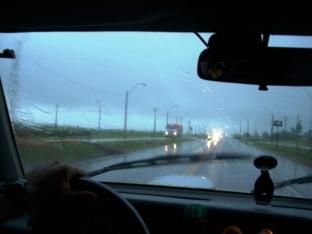 Ruta 6, próximo a Minga Guazú, Paraguai, 01/02/2011 — em Minga Guazú.