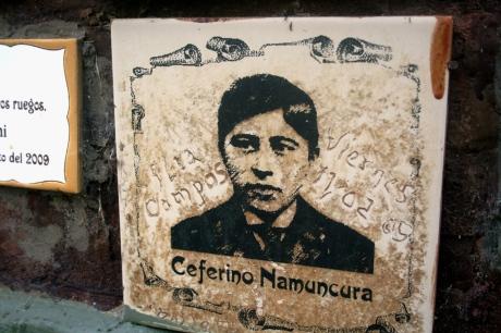 Oferenda a Ceferino Namuncurá, Parque homônimo, Chimpay, Argentina, 10/01/2011 — em Chimpay, Rio Negro, Argentina.