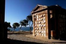 Cementerio de Playa Ancha, de frente para o Oceano Pacífico, Valparaíso, Chile, 20/01/2011 — em Valparaíso, Valparaiso, Chile.